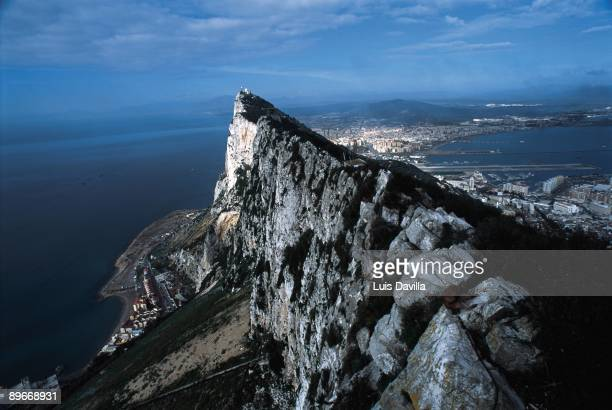 Gibraltar Panoramic view of La Linea de la Concepcion from the Rock Gibraltar British colony in spanish territory