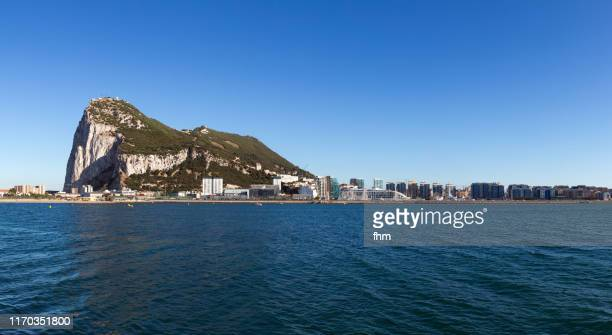 gibraltar (gibraltar/ uk) - la linea de conception stock pictures, royalty-free photos & images