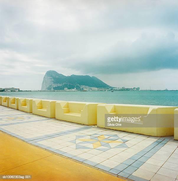 Gibraltar, Rock of Gibraltar photographed from promenade