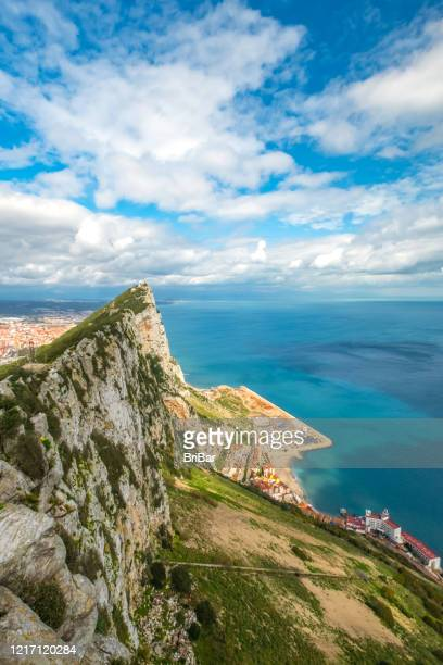ジブラルタル - 展望台からの眺め - ジブラルタルの岩山 ストックフォトと画像