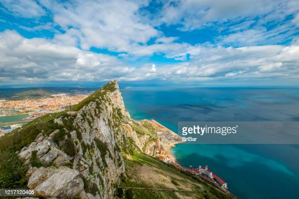 gibraltar - view from observation deck - gibraltar stock pictures, royalty-free photos & images