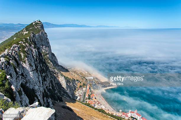 Gibraltar, view from rock to Mediterranean Sea