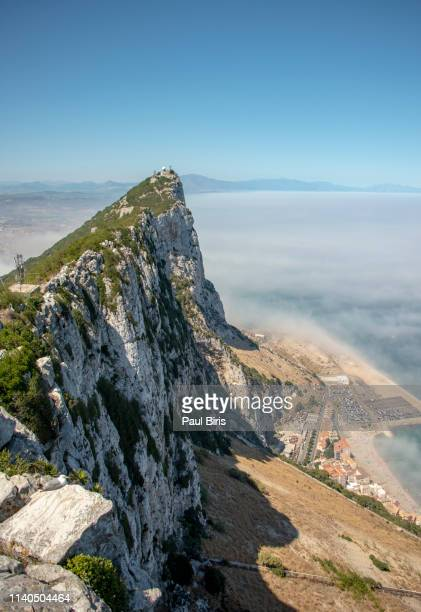 gibraltar,  view from the crest of the rock, uk - gibraltar stock pictures, royalty-free photos & images