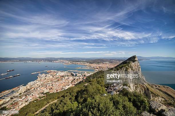 Gibraltar, View to Mediterranean Sea