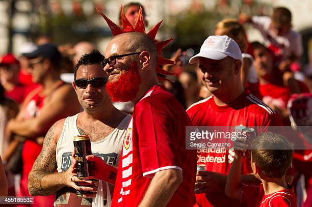 Gibraltarian attend the rally during Gibraltar National Day celebrations on September 10 2014 in Gibraltar Gibraltar National Day is the official...