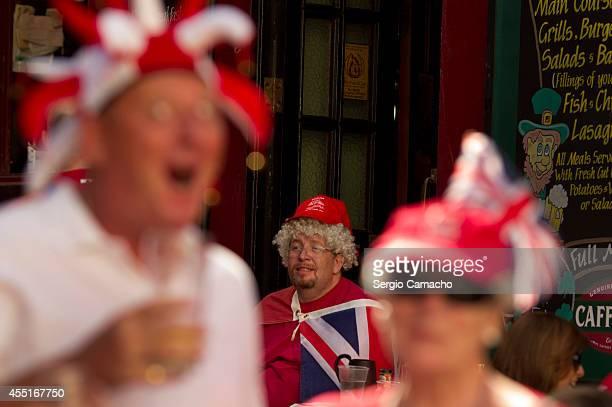 Gibraltarian in a pub before Gibraltar National Day celebrations on September 10 2014 in Gibraltar The official Gibraltar National Day events begin...