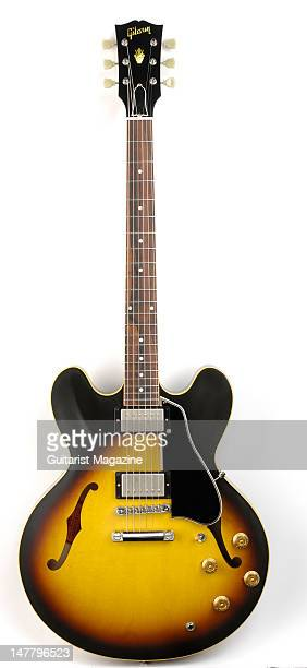 A Gibson 2008 '58 ES335 electric guitar during a studio shoot for Guitarist Magazine/Future via Getty Images October 17 2008