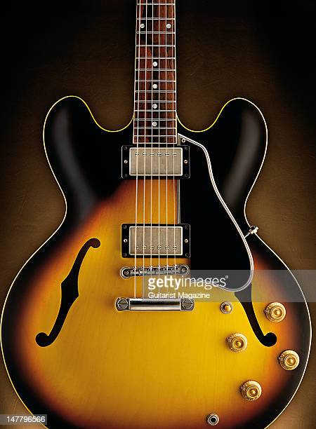 A Gibson 2008 '58 ES335 electric guitar during a studio shoot for Guitarist Magazine/Future via Getty Images October 29 2008