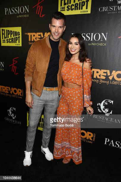 Gibson and Ashley Iaconetti attend the Crustacean Beverly Hills Hosts AJ Gibson's Flipping The Script Book Launch And Fundraiser For The Trevor...