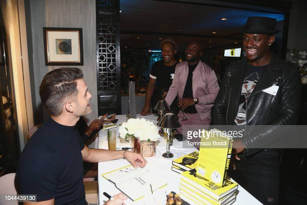 Gibson and BlameItOnKWay attend the Crustacean Beverly Hills Hosts AJ Gibson's Flipping The Script Book Launch And Fundraiser For The Trevor Project...