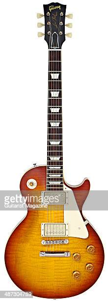 Gibson Custom 1959 Les Paul Standard Reissue electric guitar photographed on a white background taken on August 5 2013