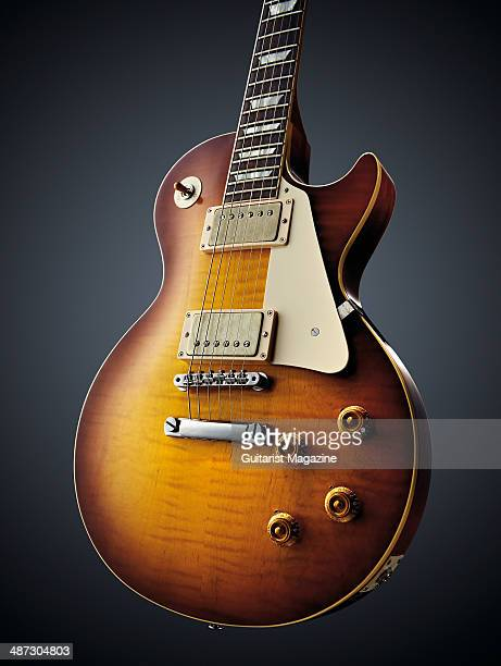 Gibson Custom 1959 Les Paul Standard Reissue electric guitar photographed on a grey background taken on August 5 2013