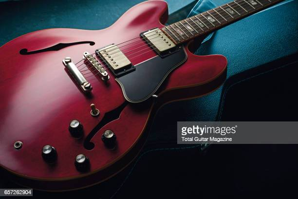 A Gibson ES335 electric guitar taken on June 8 2016