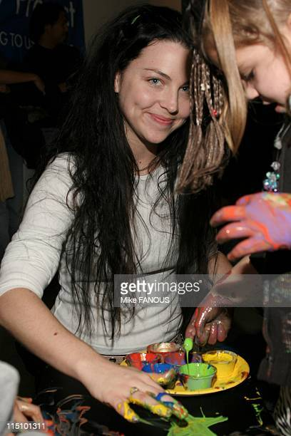 Gibson Guitar 'Paint for Pep' charity event in Beverly Hills United States on December 04 2004 Amy Lee at the Gibson Baldwin Showroom