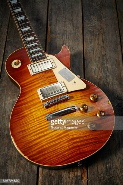 A Gibson Les Paul '60 Reissue electric guitar taken on May 20 2016