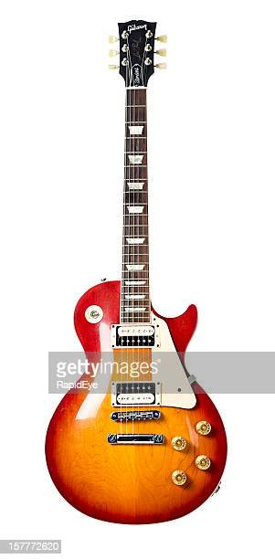 gibson les paul standard electric guitar - electric guitar stock pictures, royalty-free photos & images