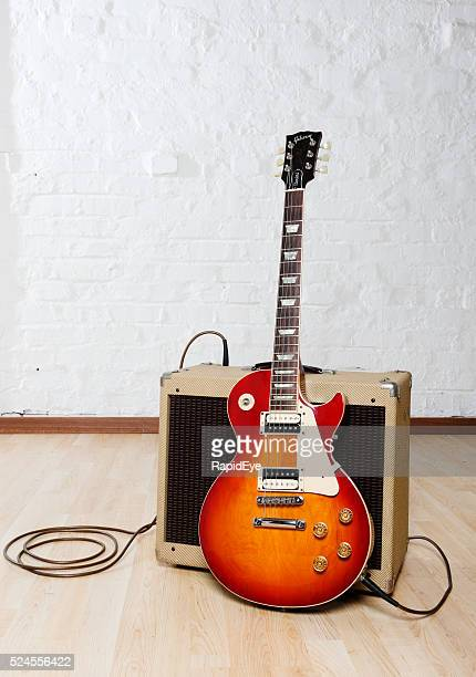 Gibson Les Paul Standard guitar with Peavey Classic amplifier