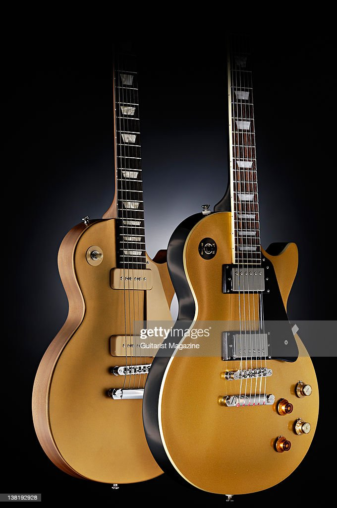 Gibson Les Paul Studio 60s Tribute And Epiphone Joe Bonamassa Goldtop Electric Guitars During