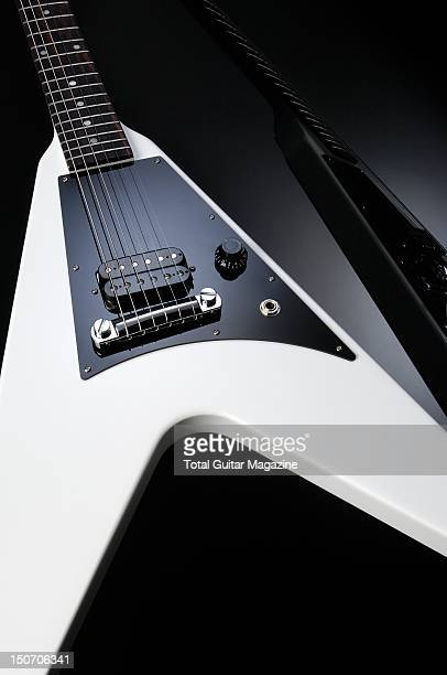 Gibson Melody Maker Flying V electric guitar session for Total Guitar Magazine/Future via Getty Images taken on June 24 2011