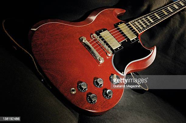 A Gibson SG electric guitar During a studio shoot for Guitarist Magazine September 25 2007