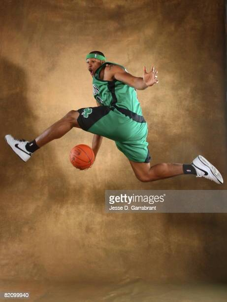 Giddens of the Boston Celtics poses for a portrait during the 2008 NBA Rookie Photo Shoot on July 29, 2008 at the MSG Training Facility in Tarrytown,...