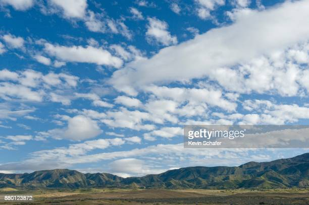 Giddy sky, cumulus clouds, Carrizo Plain, California