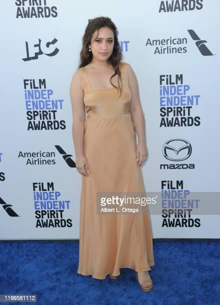 Gideon Adlon arrives for the 2020 Film Independent Spirit Awards held on February 8 2020 in Santa Monica California
