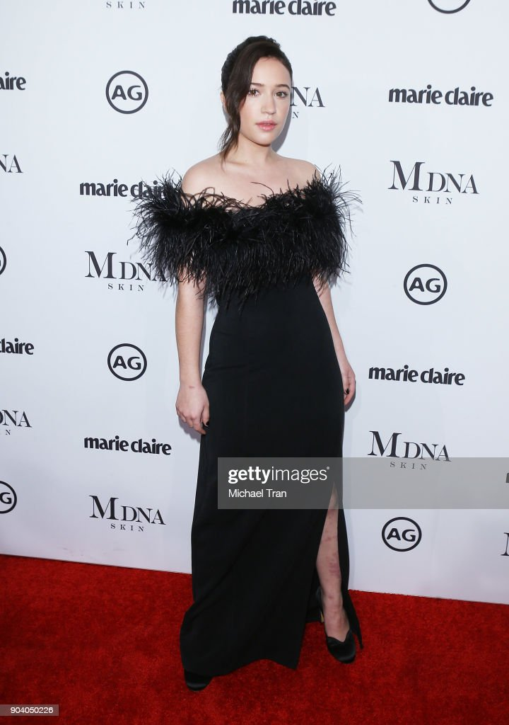 Gideon Adlon arrives to the Marie Claire's Image Maker Awards 2018 held at Delilah on January 11, 2018 in West Hollywood, California.