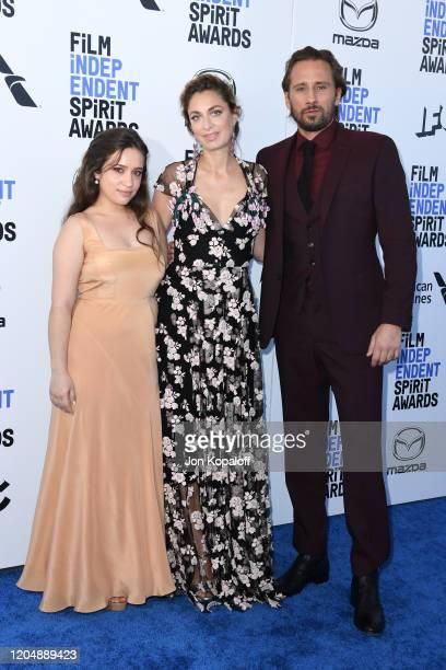 Gideon Adlon Laure de Clermont Tonnerre and Matthias Schoenaerts attend the 2020 Film Independent Spirit Awards on February 08 2020 in Santa Monica...