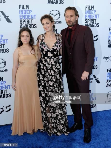 Gideon Adlon Laure de ClermontTonnerre and Matthias Schoenaerts arrive for the 2020 Film Independent Spirit Awards held on February 8 2020 in Santa...