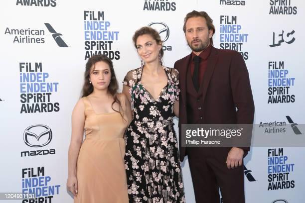 Gideon Adlon Laure de ClermontTonnerre and Matthias Schoenaerts attend the 2020 Film Independent Spirit Awards on February 08 2020 in Santa Monica...