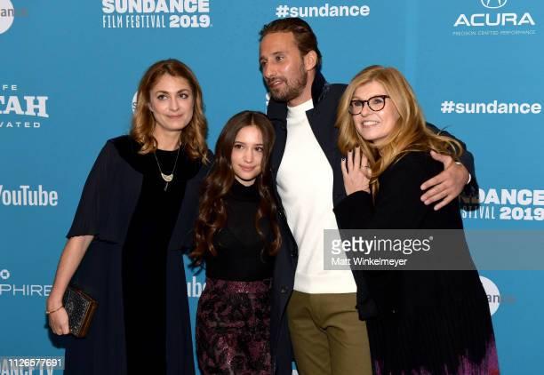 Gideon Adlon Laure de ClermontTonnerre Matthias Schoenaerts and Connie Britton attends the The Mustang Premiere during the 2019 Sundance Film...