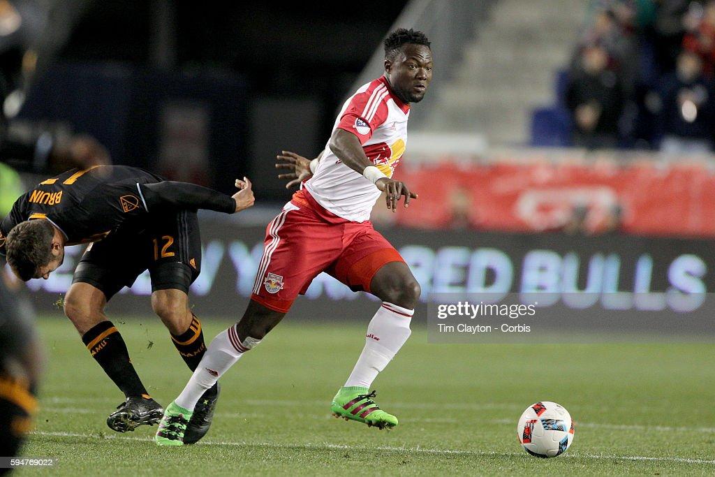 MLS. New York Red Bulls Vs Houston Dynamo, Major League Soccer regular season match at Red Bull Aren : News Photo