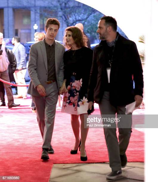 Gideon Babe Ruth Howard and Debra Winger attend the 2017 Tribeca Film Festival The Lovers screening at BMCC Tribeca PAC on April 22 2017 in New York...