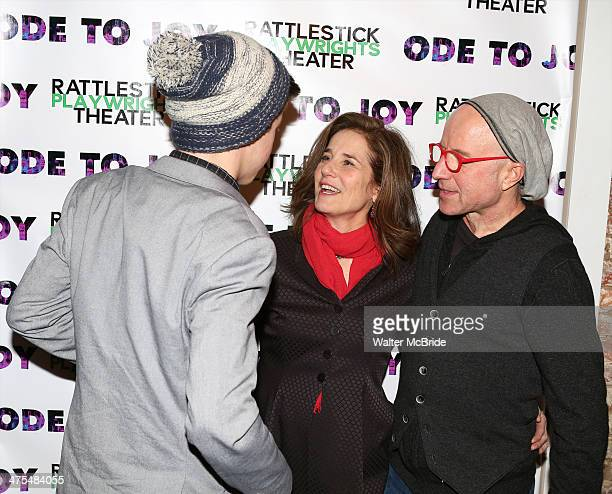 Gideon Babe Ruth Howard Debra Winger and Arliss Howard attend the opening night of Ode To Joy at Cherry Lane Theatre on February 27 2014 in New York...