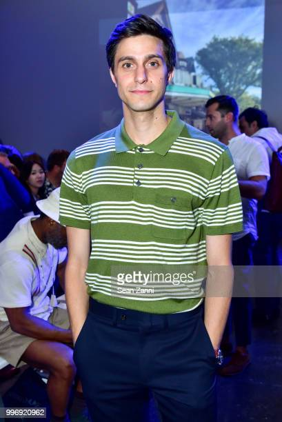 Gideon Glick attends the Todd Snyder S/S 2019 Collection during NYFW Men's July 2018 at Industria Studios on July 11 2018 in New York City