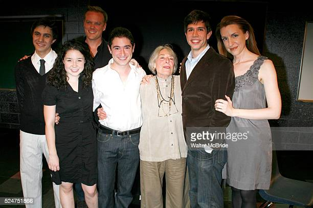 Gideon Glick Sarah Steele Jason Moore Jason Fuchs Mary Rodgers Stephen Karam Susan Blackwell at the Opening Night of the Roundabout Theatre Company's...