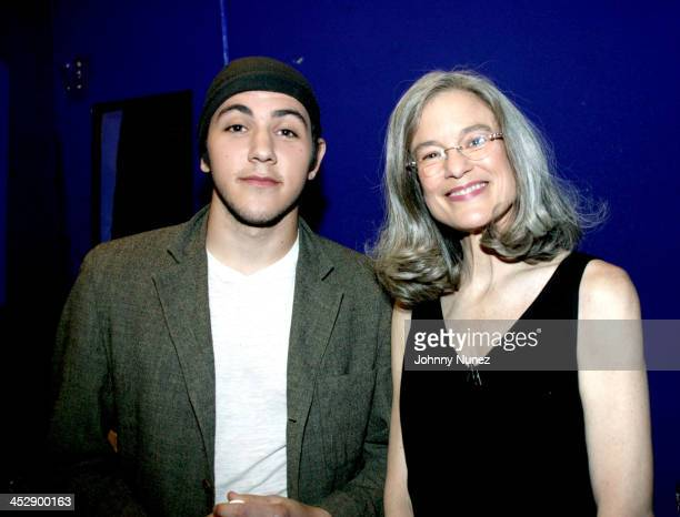 Gideon GrodyPatinkin and Sharon Olds during Def Poetry Jam February 24 2005 at The Supper Club in New York City New York United States