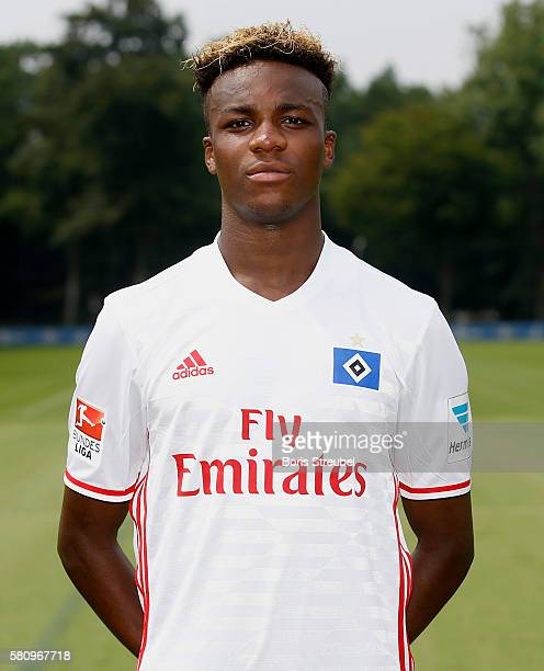 Gideon Jung of Hamburger SV poses during the Hamburger SV Team Presentation at Volksparkstadion on July 25 2016 in Hamburg Germany