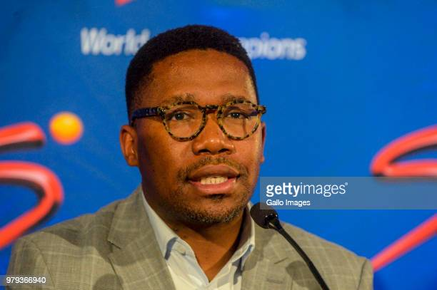 CEO Gideon Khobane of SuperSport during the SuperSport media briefing to announce the outcome of the independent review into the Ashwin Willemse...