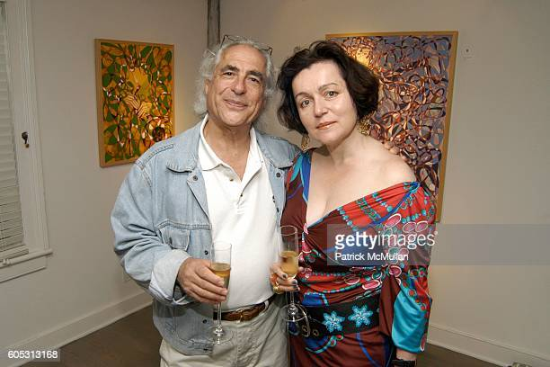 Gideon Lewin and Joanna Mastroianni attend WANDA MURPHY Unveils her IN MEMORY OF YOU Collection at EZAIR GALLERY NELLO'S on May 28 2006 in...