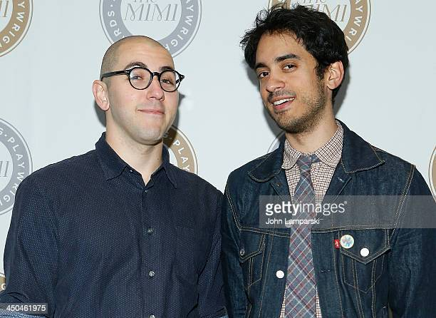 Gideon Patinkin and Raki Sastri attend the 6th Annual Mimi Awards at the Vivian Beaumont Theatre at Lincoln Center on November 18 2013 in New York...