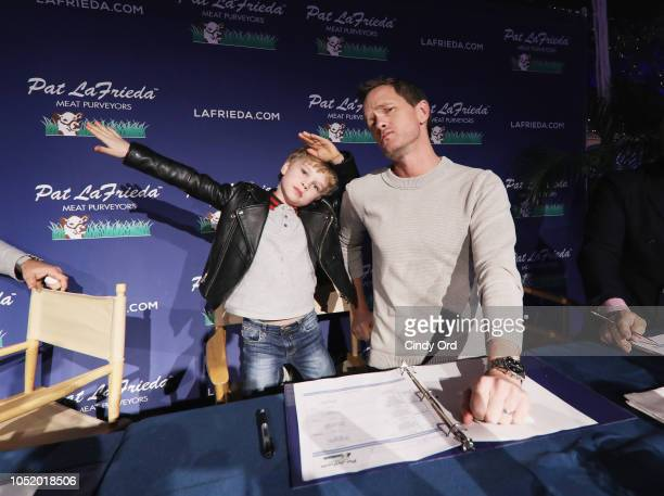 Gideon Scott BurtkaHarris and Neil Patrick Harris attend the Food Network Cooking Channel New York City Wine Food Festival presented by Capital One...