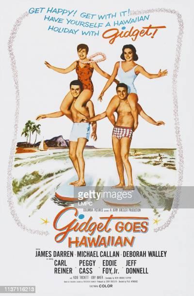Gidget Goes Hawaiian poster US poster clockwise from bottom left James Darren Deborah Walley Vicki Trickett Michael Callan 1961
