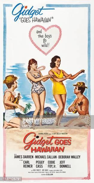 Gidget Goes Hawaiian poster US poster from left James Darren Deborah Walley Vicki Trickett Michael Callan 1961