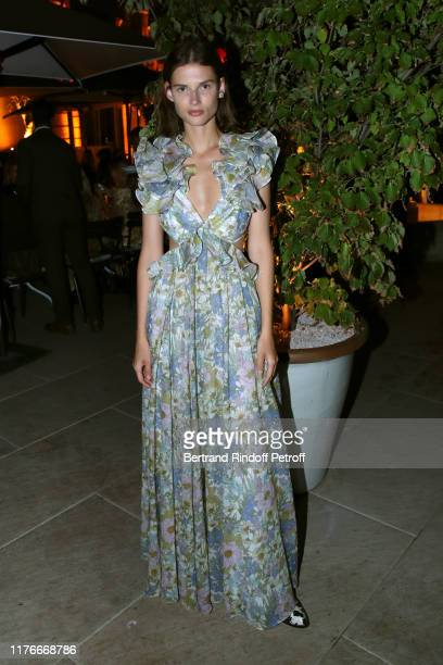 Giedre Dukauskaite attends the Zimmermann Cocktail As part as Paris Fashion Week Womenswear Spring Summer 2020 Held at Apicius on September 23 2019...