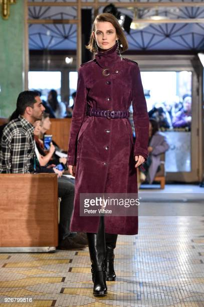 Giedre Dukauskaite walks the runway during the Altuzarra show as part of the Paris Fashion Week Womenswear Fall/Winter 2018/2019 on March 3 2018 in...