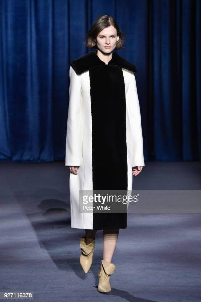 Giedre Dukauskaite walks the runway during the Givenchy show as part of the Paris Fashion Week Womenswear Fall/Winter 2018/2019 on March 4 2018 in...