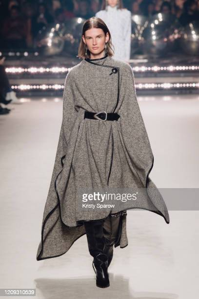 Giedre Dukauskaite walks the runway during the Isabel Marant show as part of Paris Fashion Week Womenswear Fall/Winter 2020/2021 on February 27, 2020...