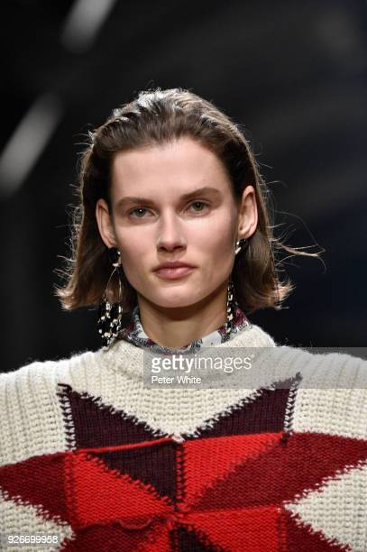 Giedre Dukauskaite walks the runway during the Isabel Marant show as part of the Paris Fashion Week Womenswear Fall/Winter 2018/2019 on March 1 2018...
